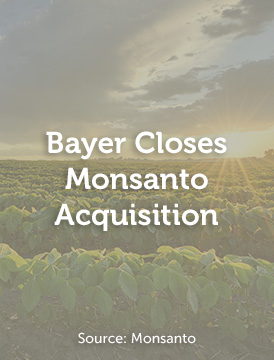 Bayer Closes Monsanto Acquistion